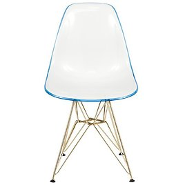 Tanis Plastic Solid Back Side Chair Dining Chair
