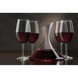 MoDRN Clear Glass Red Wine Decanter, 40.6 Ounce