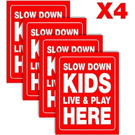 25% OFF Slow Down Kids Yard Sign
