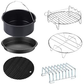 GoWISE USA Standard 6-Piece Air Fryer Accessory Kit for 2.75-3.7 Quarts