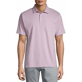George Men's Solid Jersey Pocket Polo Shirt