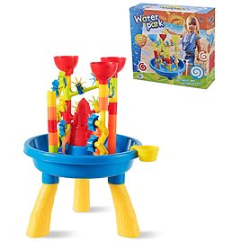 Beach Toy Set Splash Pond Water Table and Sand Playset for Kids