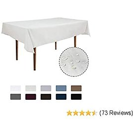 Rectangle Waterproof Tablecloths 90 X132 Inch Ivory Spillproof Fabric Tablecloth,Decorative Fabric Table Cover