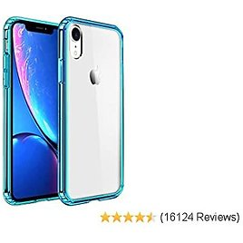 Mkeke Compatible with IPhone XR Cases,Clear Anti-Scratch Shock Absorption Cover Case for IPhone XR-Green