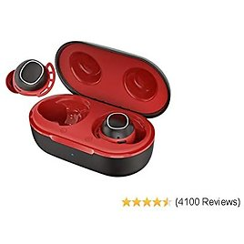 Wireless Earbuds, Mpow M30 In-Ear Bluetooth Headphones, Immersive Sound W/Bass, IPX7 Waterproof Sport Earbuds, Touch Control, 25 Hrs W/Type-C Charging Case/Mics, Red