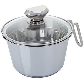 Wolfgang Puck 6-Cup Stainless Steel Weeknighter Pot with Colander Lid - 9351733 | HSN
