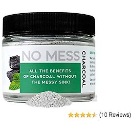 NO MESS Natural Teeth Whitener - White Activated Charcoal w/ Coconut, Bamboo &  Hardwood