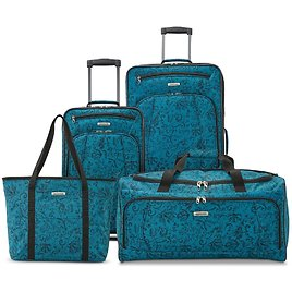 4-Pc American Tourister Luggage Set (2 Colors) + F/S