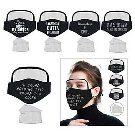 Cotton Face Mask with 2 Filters Dustproof Protective Mouth Cover with Eye Shield