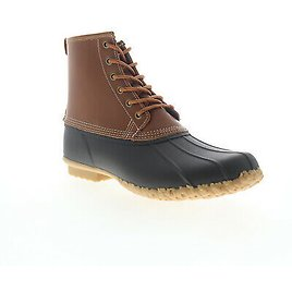 Sebago Duck Boot 7001H60 Mens Brown Wide 2E Leather Lace Up Casual Dress Boots