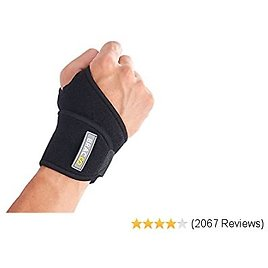Bracoo Wrist Wrap, Reversible Compression Support – for Sprains, Carpal Tunnel Syndrome, Wrist Tendonitis Pain Relief & Injury Recovery, WS10