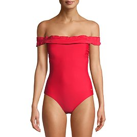 Simply Fit - Simply Fit Women's One-Piece Off The Shoulder Swimsuit