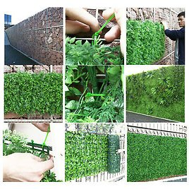 Artificial Landscaping Grass Realistic Natural Looking Turf Plant Wall Panels