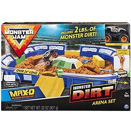 """Monster Jam, Monster Dirt Arena 24"""" Playset with 2lbs of Monster Dirt & Exclusive 1: 64 Scale Die-Cast Truck"""
