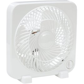 Mainstays 9 Inch Personal Desktop Fan with 3 Speeds, White
