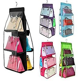 Zippem 6 Pocket Dustproof Cover Hanging Bag Storage Double-sided Sorting Organizer Packing Organizers