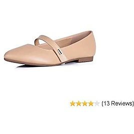 Sorliva Women's Pointed Toe Flats Comfortable Slip On Ballet Flat Shoes with Adjustable Strap Office Dress Shoes