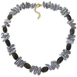 """Exclusive! Rarities Cultured Keshi Pearl and Gemstone 22"""" Necklace"""