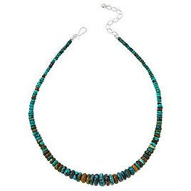 Exclusive! Jay King Sterling Silver Hubei Turquoise Graduated Bead Necklace