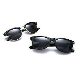 2 PACK Clubmaster Classic Polarized Sunglasses For Men & Women UV High End