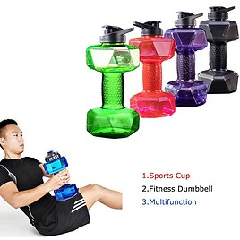 US $4.91 40% OFF Dumbbells Plastic Big Large Capacity Gym Sports Water Outdoor Fitness Bicycle Bike Camping Cycling Bottle Fitness Accessories Dumbbells  - AliExpress