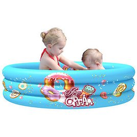 LXLOMAND 90/110CM 3-Rings Thicken Inflatable Swimming Pool Children Toddler Summer Garden Bath Tubs PVC Kids Play PoolsOutdoor RecreationfromSports & Outdooron Banggood.com