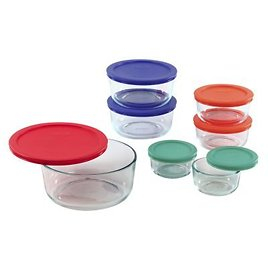 14-piece Glass Food Storage Container Set with Lids