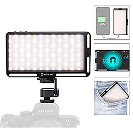 Save 20%! On Camera Light for DSLR, LED Video Light CRI 96+ Bi-Color Camera Panel Light 3000K-6500K Dimmable with Type-C Cable R