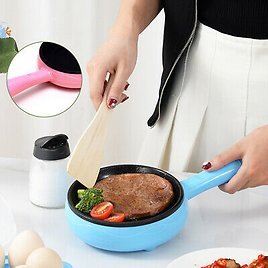 2 In 1 Mini Electric Frying Pan And Egg Cooker Boiler SteamODUS