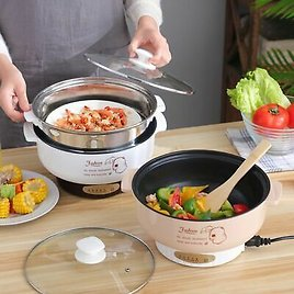 Electric Cooker Heating Pan Multifunctional Noodles Cooking Pot Egg Soup Steamer