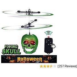 PALA PERRA Remote Control Helicopter, Flying Toy Mini RC Helicopter, Rechargeable Infrared Induction Flying Drone Indoor and Outdoor Toys, Gyro for Kids and Adults, Screaming Halloween Skull