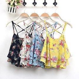 US $3.71 21% OFF|2018 Summer Crop Top Women Sexy Party Shirts Tank Clothing Spaghetti Strap Floral Print Shirt Vest Beach Casual Tops Single Ize|top Women Sexy|summer Cropsummer Crop Top - AliExpress
