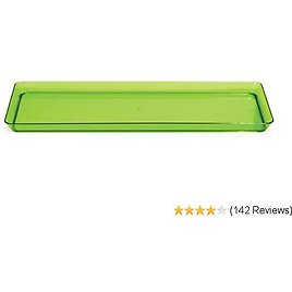 Creative Converting (179431) Rectangle Plastic Serving Tray, 15.5 Inch X 6 Inch, Translucent Green