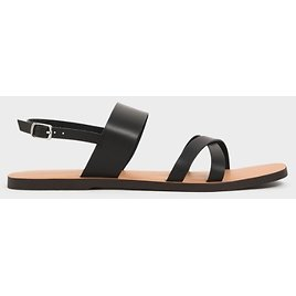Two-Tone Thick Strap Flats (3 Colors)
