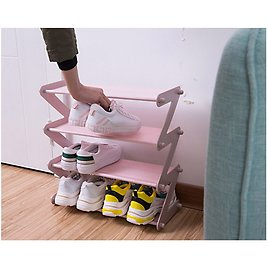 US $14.4 42% OFF|Simple Z Layers Shoe Shelf Stailess Steel Frame Easy Installation Living Room Furniture Hallway Space Saving Shoe Organizer Rack|Shoe Cabinets| - AliExpress
