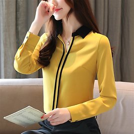 US $12.6 32% OFF|Blusas Mujer De Moda 2019 Womens Tops and Blouses Ladies Tops for Women Shirt Long Sleeve Solid Chiffon Blouse White V Neck 0183|Blouses & Shirts| - AliExpress