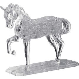 BePuzzled Deluxe 3D Crystal Jigsaw Puzzle - Horse Animal Assembly Brain Teaser, 98Piece