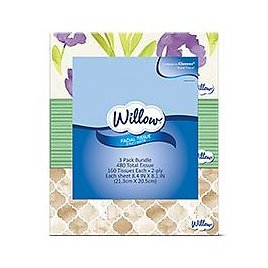 Willow 3 Pack Facial Tissue