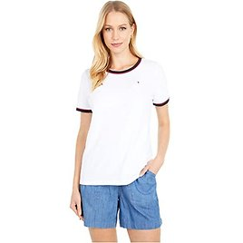 Tommy Hilfiger Short Sleeve Pique Tee Contrast | 6pm