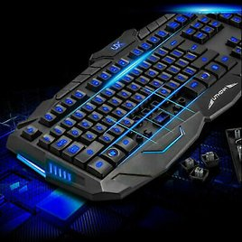 USB LED Light Gaming Keyboard and Mouse Set Kit for Computer PC 1-3day Fast Ship
