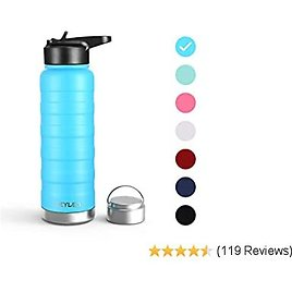Yoga Kids Thermos Flask with Brush /& Carcasa for Cycling TiooDre Water Bottle Gym 750/ML BPA Free Stainless Steel Vacuum Insulated Water Bottles Double Wall Hot /& Cold Sports Drinks Bottle