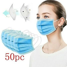 50 PCS Adult Face Mask Mouth & Nose Protector Respirator Masks with Filter