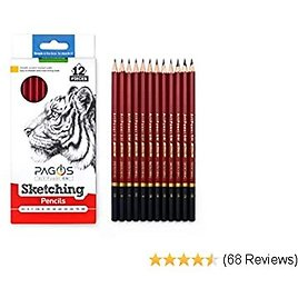 Sketching Pencils – Professional Graphite Pencil Set for Drawing – 2H, H, F, HB, B, 2B, 3B, 4B, 5B, 6B, 7B, 8B Art Travel Set - Shading Pencils, Drawing and Art Supplies, Sketching Set 12 Pieces