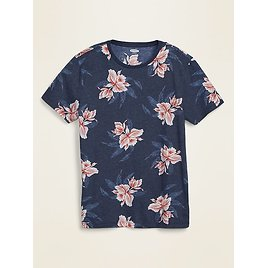 Soft-Washed Printed Crew-Neck Tee for Men | Old Navy