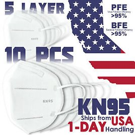 REAL KN95 Face Mask PM 2.5 Protective 5 Layer Disposable Respirator Safety Cover