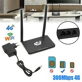 4G LTE Wireless Router 300Mbps CPE Double Antenna WiFi Hotspot W/ SIM Card Slot