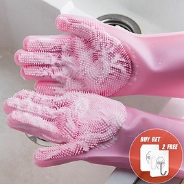 US $4.95 49% OFF 2PCS Multifunction Silicone Cleaning Gloves Magic Silicone Dish Washing Gloves For Kitchen Household Silicone Dishwashing Gloves Household Gloves  - AliExpress