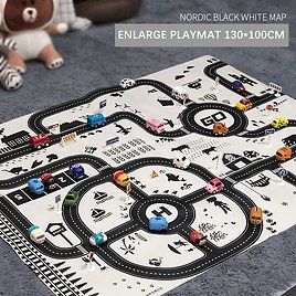 US $2.21 |Learning Juguetes Brinquedos Pretend Play Cute Pull Back Car Parking Lot Traffic Map Game Pad Baby Playmat Toys for Kids Boys|Play Mats| - AliExpress