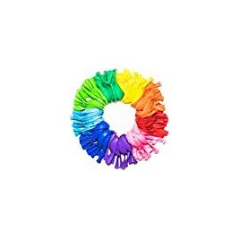 Dusico® Party Balloons 12 Inches Rainbow Set (100 Pack), Assorted Colored Party Balloons Bulk, Made with Strong Latex, for Helium Or Air Use. Birthday Balloon Arch Supplies, Decoration Accessory