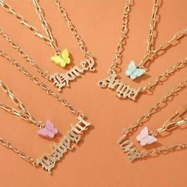 Butterfly Necklace Double Layer Pendant Clavicle Chain Women Fashion Jewelry Hot